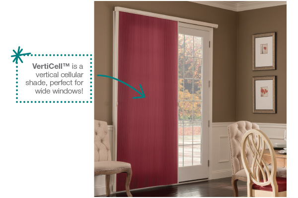 verticell is a vertical cellular shade, perfect for wide windows