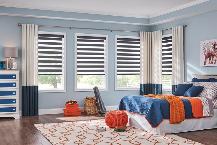 Layered Shades with AutoView Motorization