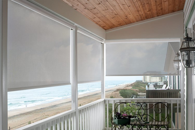 Custom Exterior Solar Shades Bali Blinds And Shades