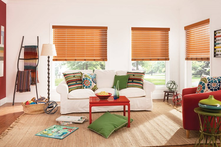 2 1/2 Inch Faux Wood Blinds